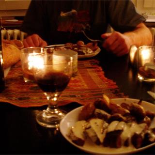 カップル-クリスマスディナー