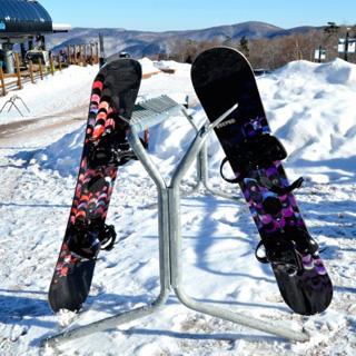 カップル-スキー場